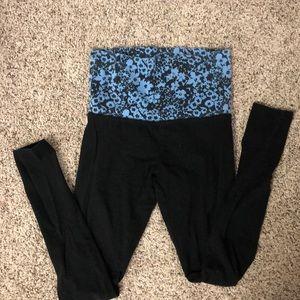 Mossimo yoga pants. Black w/blue & black floral